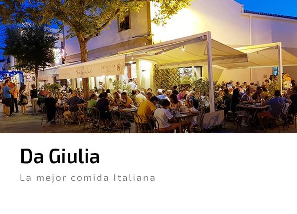 Da Giulia comida italiana pizza pasta