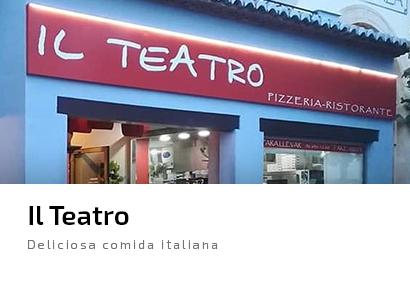 Il Teatro Javea Restaurante comida italiana pizza pasta lasagna spaguetti